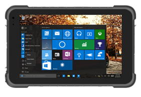 Robusto tablet rugged protetto IP67 con Windows 10 e Android